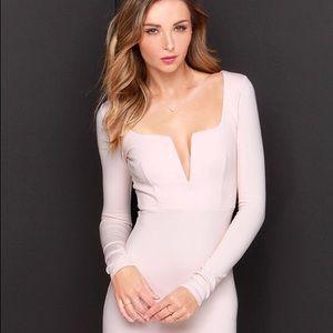 Lulus Pale Blush Midi Dress